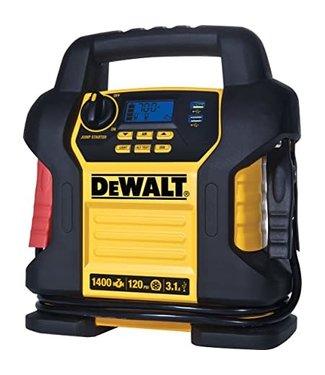 DEWALT 1400 Peak Amp Portable Car Jump Starter with Digital Compressor
