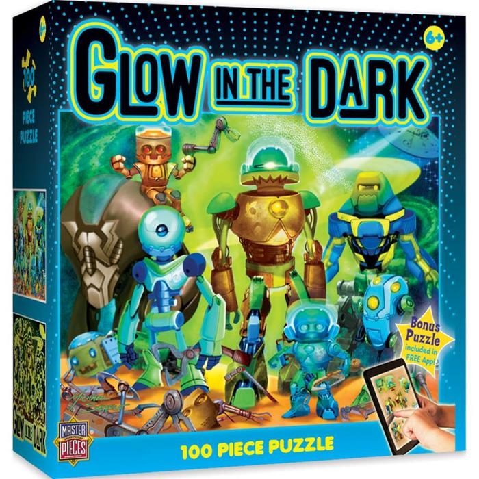 Glow In The Dark - Robots 100pc Puzzle