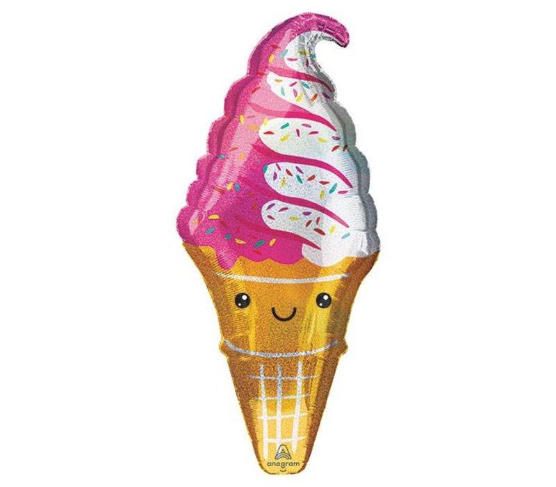 """41"""" Ice Cream Party Supershape Mylar Balloon"""