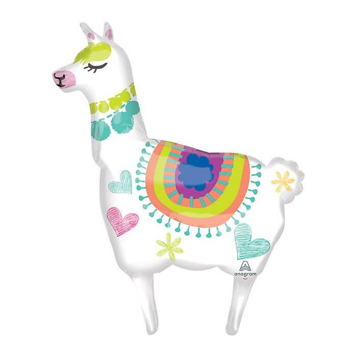 "41"" Llama Supershape Mylar Balloon"