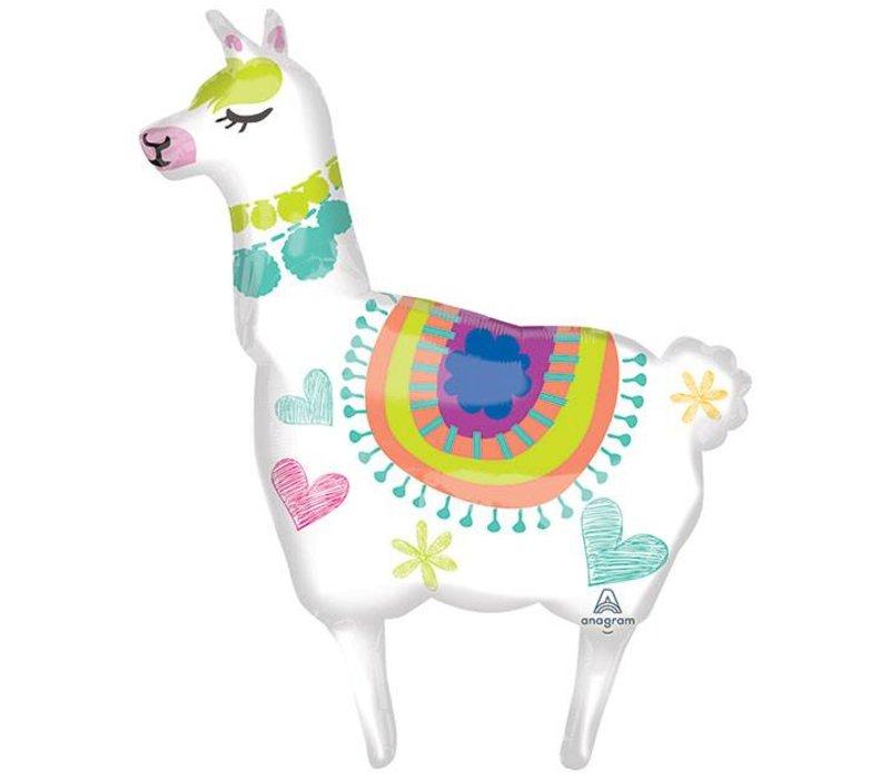 "41"" Llama Supershape Mylar Balloon"