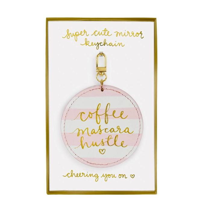 coffee,mascara,hustle -keychain
