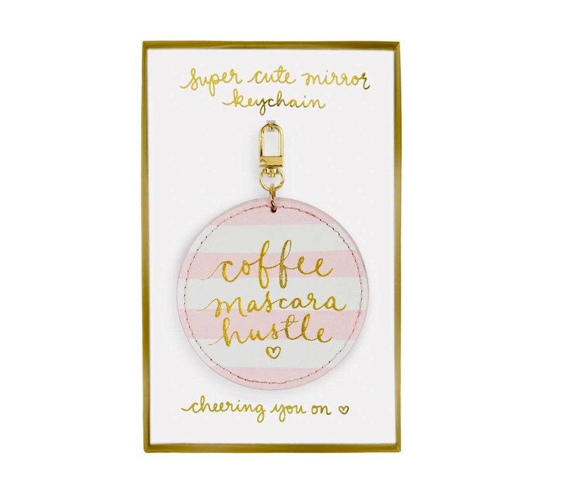 coffee,mascara,hustle -keychain