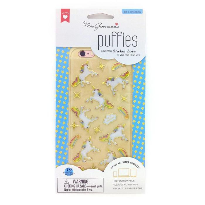 Unicorn Puffies Tech Stickers