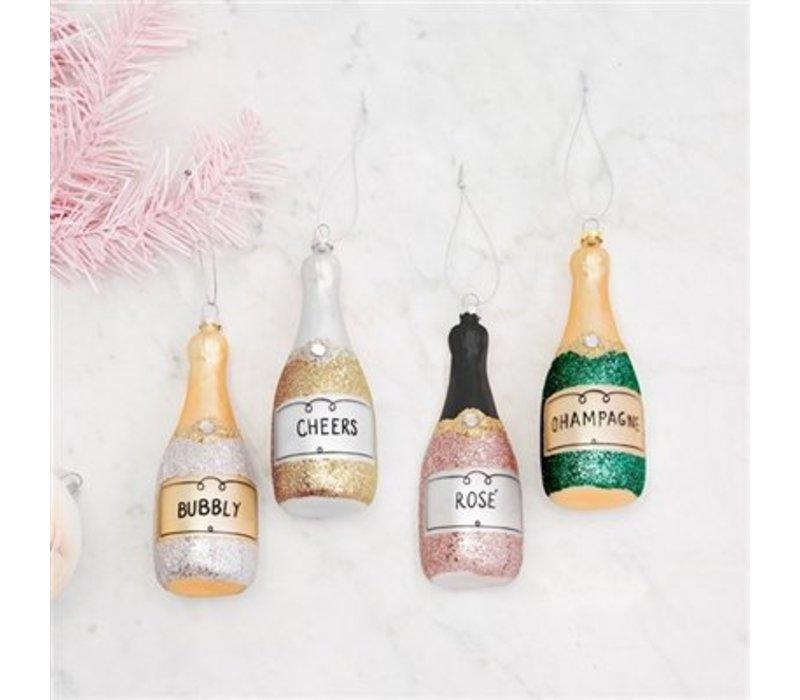 Glitter Bottle Ornament