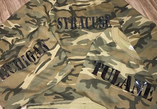 Collegiate Camo Burnout Sweatshirt