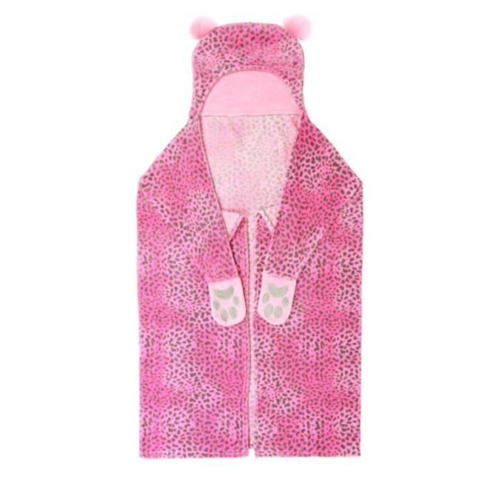 Hooded Pink Cheetah Throw