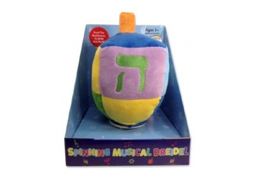 Spinny Musical Dreidel Plush Toy