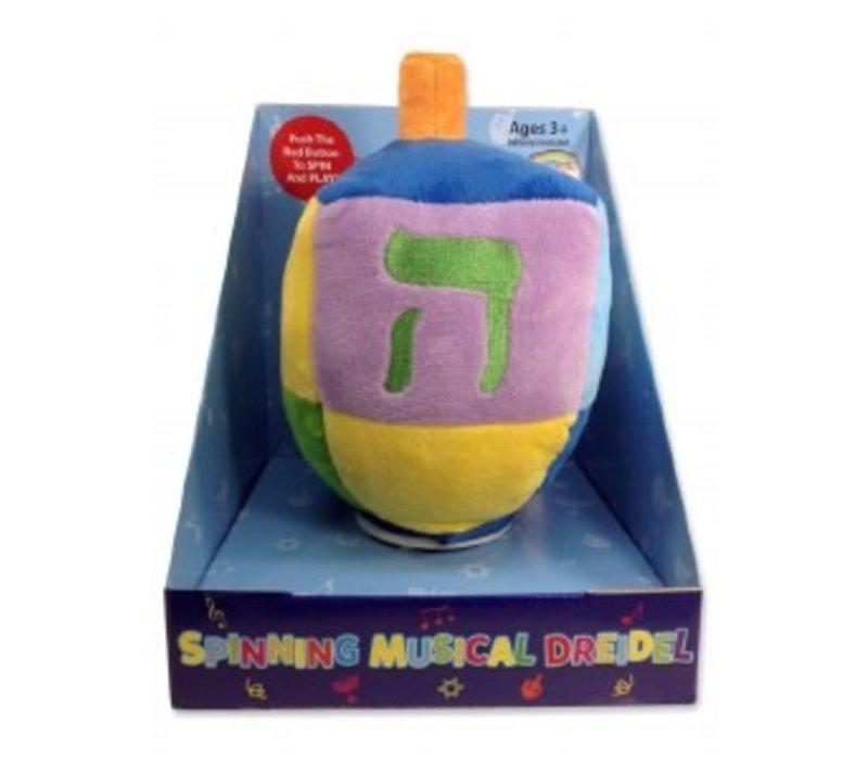 Spinny Musical Dreidel Plush Toy