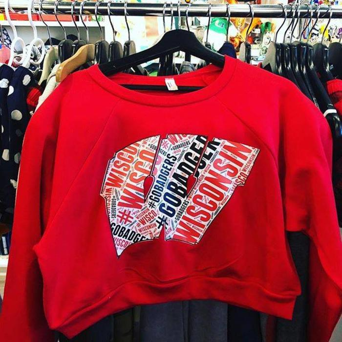 Custom Collegiate Cropped Sweatshirt