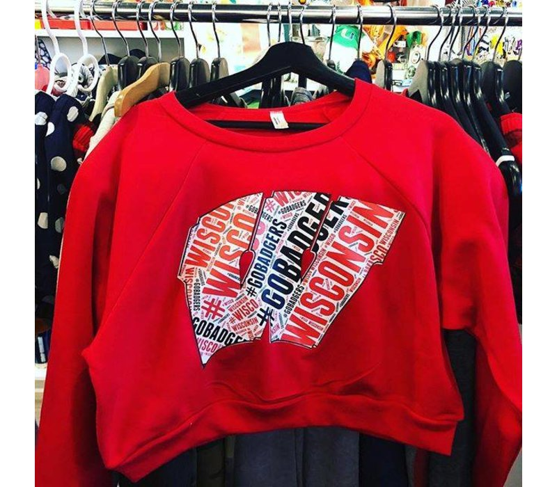 Custom Collegiate Cropped Sweatshirt