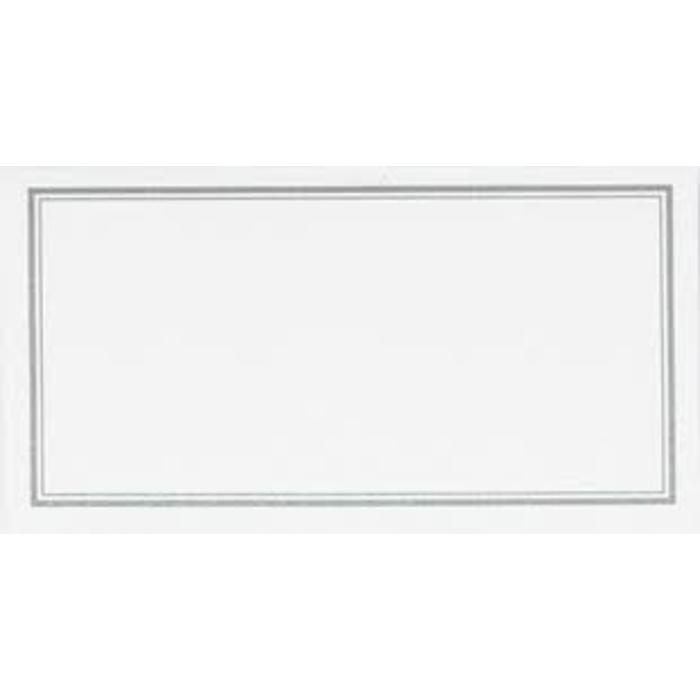 Silver Border Place Cards 20PK
