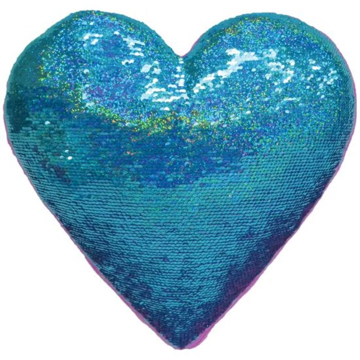 Heart Eyes Reversible Sequin Pillow