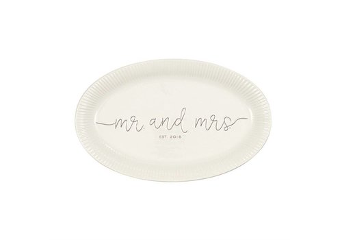 Mr. & Mrs. Est 2019 Platter