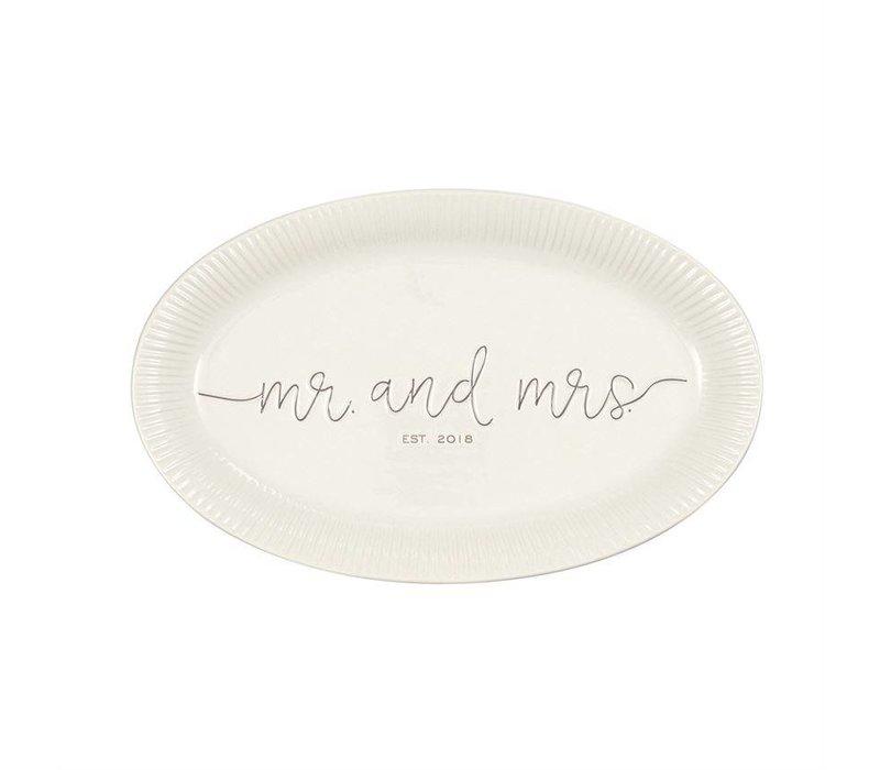 Mr. & Mrs. Est 2019 Platter