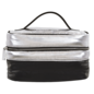 Silver & Black Cosmetic Case