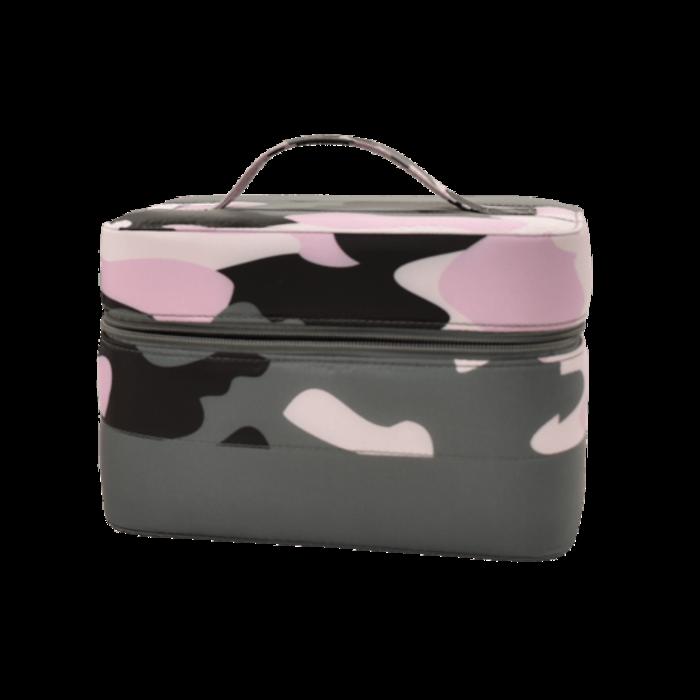 Purple Camo Puffer Cosmetic Case