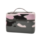 Purple Camo Puffer Cosmetic Case
