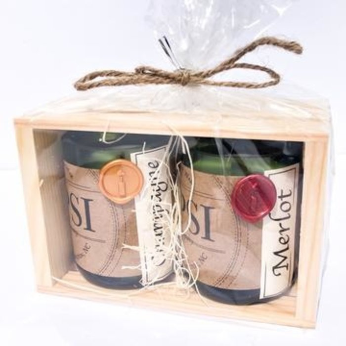 Vintage Mini Candle Gift Set (Merlot & Champagne)
