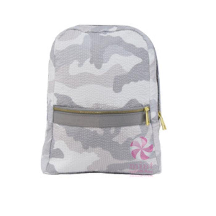 Personalized Seersucker Small Backpack