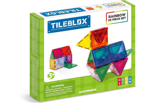 Tileblox 20 piece Rainbow Set