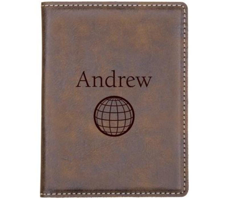 Personalized Passport Cover- Brown