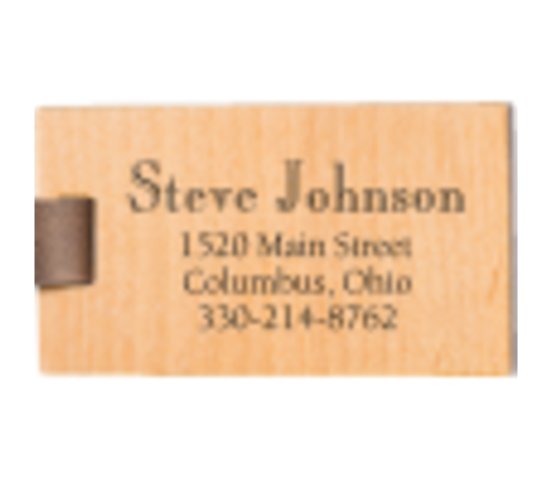 Personalized Luggage Tag Holder