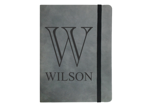 Personalized  Faux Leather Notebook Small