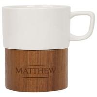 Engravable Cermaic and Wood Mug