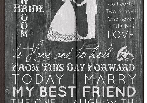 """Engravable Mr. & Mrs. Plaque 12""""x 18"""""""
