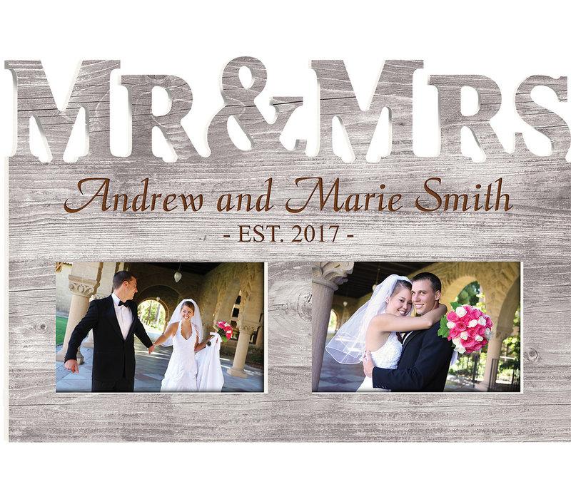 "Engravable Mr & Mrs. Frame 14""x10"""