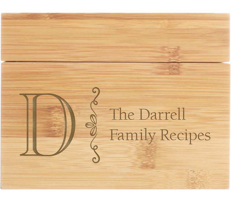 Engravable Recipe Box