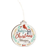 Engravable Baby's First Christmas