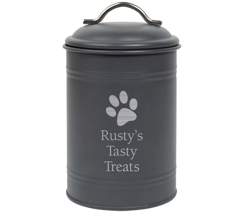 Engraved Metal Canister
