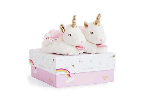 DouDou et Compagnie DouDou Unicorn Booties w/ Rattles