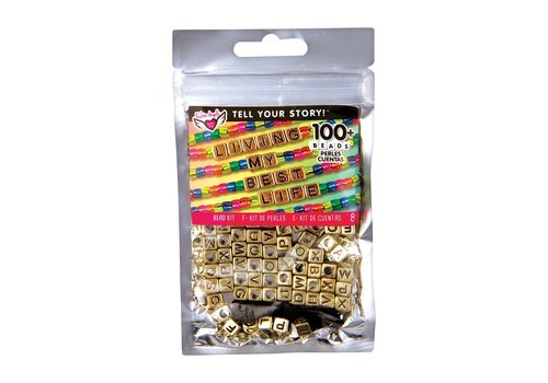 Fashion Angels Tell Your Story Gold Alphabet Beads