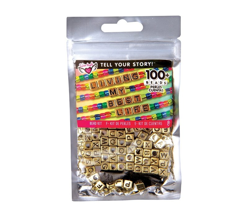 Tell Your Story Gold Alphabet Beads