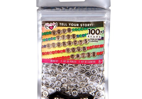 Fashion Angels Tell Your Story Silver Alphabet Beads
