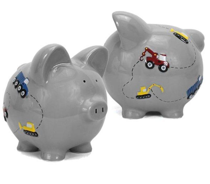 Construction Pig Bank-Grey