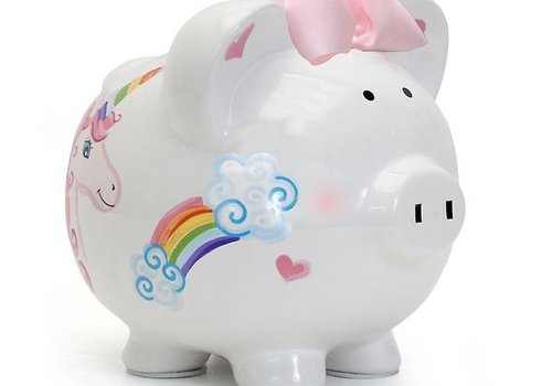 Unicorn and Rainbows Piggy bank