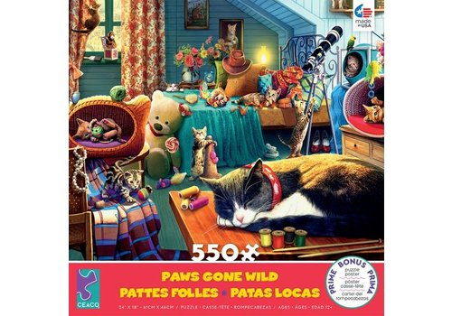 Paws Gone Wild 550 Piece Puzzle- Kitten Play
