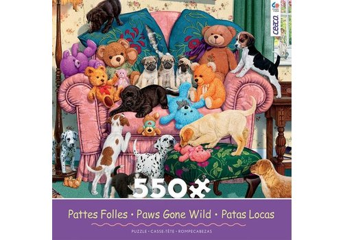 Paws Gone Wild 550 Piece Puzzle- Grandma's Armchair