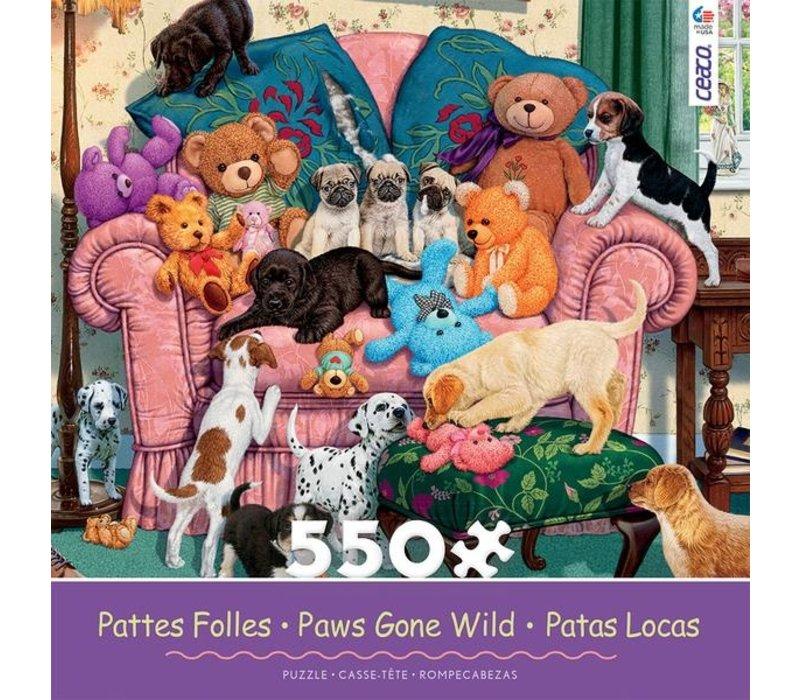 Paws Gone Wild 550 Piece Puzzle- Grandma's Armchair