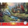 Thomas Kincade Mountain Paradise 1500 Pc Puzzle