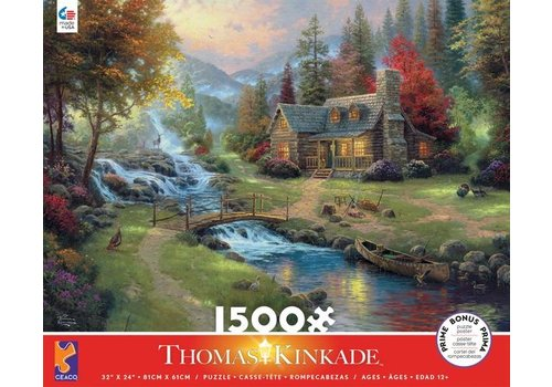 Thomas Kincade Mountain Paradise 1500 Pc Puzzle