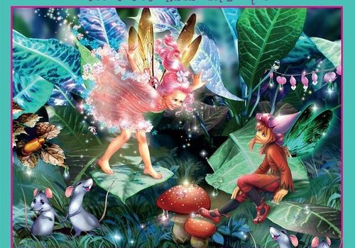 Forest Fairies Glitter 100 Pc Puzzle- Fairy, Elf & Mouse