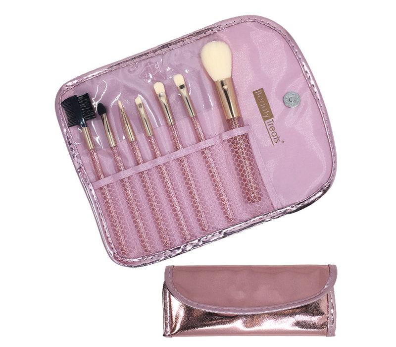 Metallic Pink 7 PC Brush Set