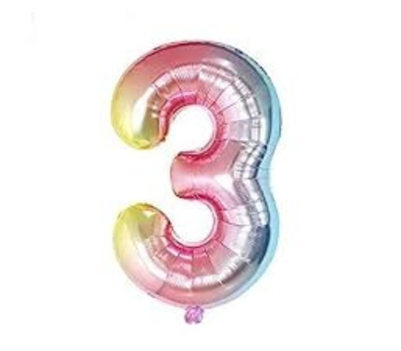 Opalescent Ombre Number Balloon