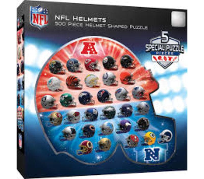 NFL Team Logos 500pc Helmet Shaped Puzzle