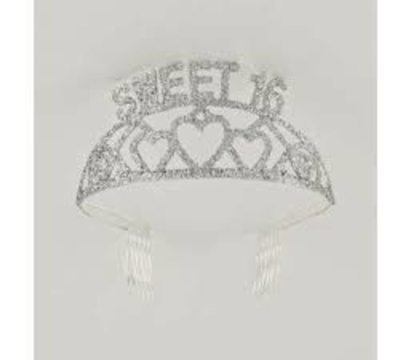 GLITTER BIRTHDY TIARA-SWEET 16